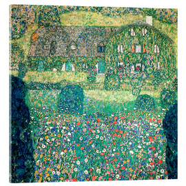Acrylic print  Country house on Attersee lake - Gustav Klimt