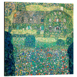 Aluminium print  Country house on Attersee lake - Gustav Klimt