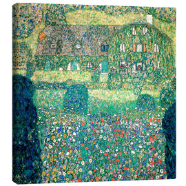 Canvas print  Country house on Attersee lake - Gustav Klimt