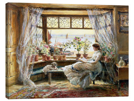 Canvas  Reading at the window - Charles James Lewis