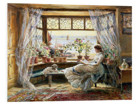 Foam board print  Reading at the window - Charles James Lewis