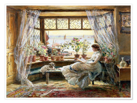 Charles James Lewis - Reading at the window