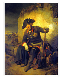 Premium poster Friedrich II. After the battle of Kolin