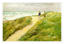 Poster  On the beach of Katwijk - Max Liebermann