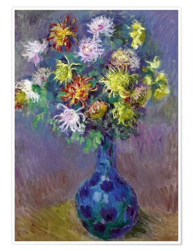Premium poster Vase of Chrysanthemums