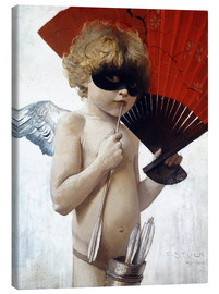 Canvas print  Cupid at the masked ball - Franz von Stuck