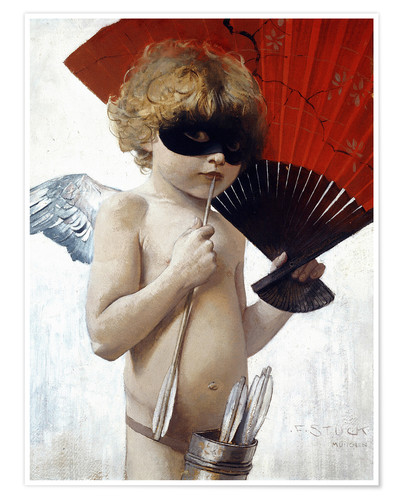 Premium poster Cupid at the masked ball
