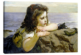 Canvas print  The girl with the lizard - Ernst Stückelberg
