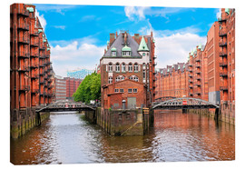 Canvas print  Waterfront warehouses in Hamburg - Miva Stock