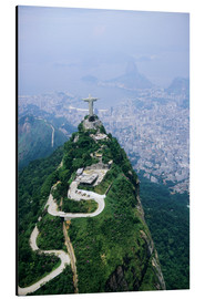 Alu-Dibond  Corcovado Mountain with Christ the Redeemer Statue - Sue Cunningham