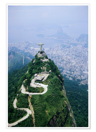 Premium poster  Corcovado Mountain with Christ the Redeemer Statue - Sue Cunningham