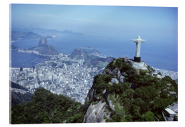 Acrylic print  Christ is enthroned over Rio - Sue Cunningham