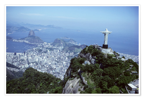 Premium poster Christ is enthroned over Rio