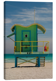 Canvas  Stylish lifeguard station, Miami - Nancy & Steve Ross