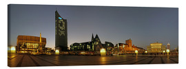 Canvas print  Leipzig evening panorama - Marcel Schauer