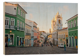 Wood print  Bahia Salvador in Brazil - Cindy Miller Hopkins