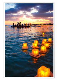 Premium poster Lantern swimming festival in Hawaii