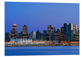 Foam board print  Vancouver skyline at night - Rob Tilley