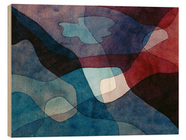 Wood print  Mountain and Air Synthetic - Paul Klee