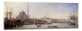 Acrylic glass  The Golden Horn, Suleymaniye Mosque and Fatih Mosque - Antoine Léon Morel-Fatio