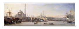 Poster  The Golden Horn, Suleymaniye Mosque and Fatih Mosque - Antoine Léon Morel-Fatio