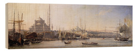 Wood print  The Golden Horn, Suleymaniye Mosque and Fatih Mosque - Antoine Léon Morel-Fatio