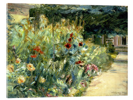 Acrylic print  Flower Garden in Giverny at the Wannsee - Max Liebermann