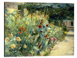 Aluminium print  Flower Garden in Giverny at the Wannsee - Max Liebermann