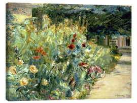 Canvas print  Flower Garden in Giverny at the Wannsee - Max Liebermann