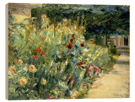 Wood print  Flower Garden in Giverny at the Wannsee - Max Liebermann