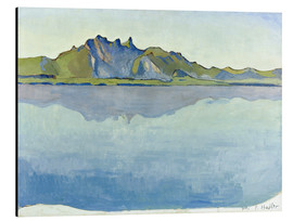 Aluminium print  Lake Thun with Stockhorn chain - Ferdinand Hodler