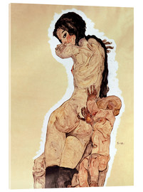 Acrylic print  Mother and Child - Egon Schiele