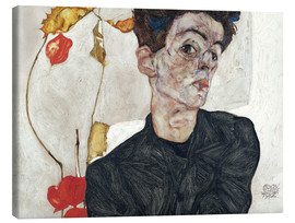 Canvas  Egon Schiele with Physalis - Egon Schiele