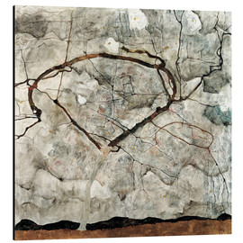 Aluminium print  Autumn tree in the wind - Egon Schiele