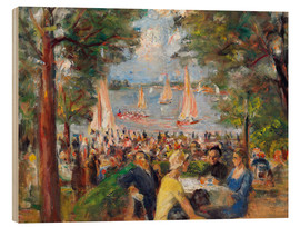 Wood print  Beer garden on the Havel river - Max Liebermann
