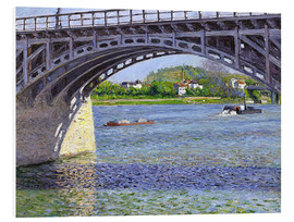 Foam board print  Bridge at Argenteuil - Gustave Caillebotte