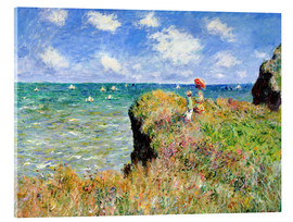 Acrylic glass  Clifftop walk at Pourville - Claude Monet