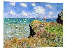 Foam board print  Clifftop walk at Pourville - Claude Monet