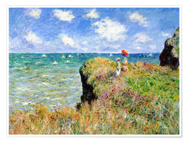 Premium poster  Clifftop walk at Pourville - Claude Monet