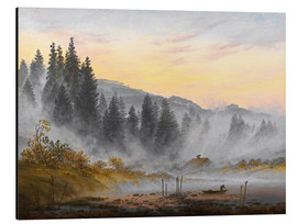 Aluminium print  The morning - Caspar David Friedrich