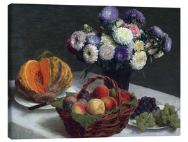 Canvas  Flowers & Fruits - Henri de Fantin-Latour