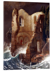 Acrylic print  The Chapel - Arnold Böcklin