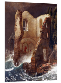Foam board print  The Chapel - Arnold Böcklin