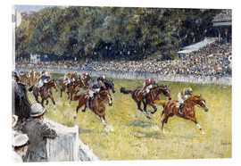 Acrylic print  Horse Racing at Goodwood 1929 - Gilbert Holiday