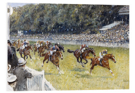 Foam board print  Horse Racing at Goodwood 1929 - Gilbert Holiday