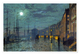 John Atkinson Grimshaw - Docks at moonlight