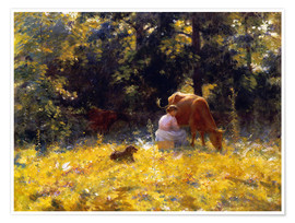 Premium poster  The Dairymaid - Charles Courtney Curran
