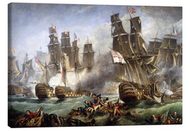 Canvas print  The Battle of Trafalgar