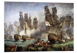 Foam board print  The Battle of Trafalgar - William Clarkson Stanfield