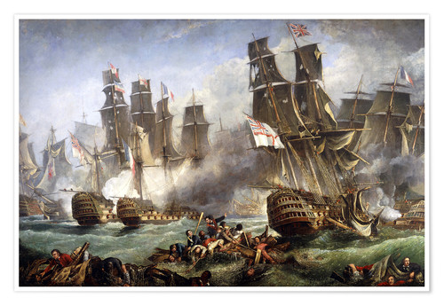 Premium poster The Battle of Trafalgar